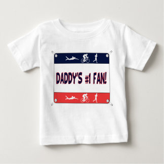 Triathlon Daddy's #1 Fan Baby T-Shirt