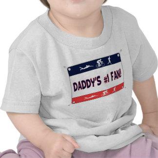 Triathlon Daddy's #1 Fan T-shirts