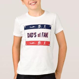 Triathlon Dad's #1 Fan T-Shirt