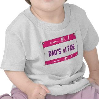 Triathlon Dad's #1 Fan Shirt