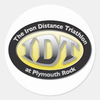 Triathlon de IronDistance Etiquetas Redondas