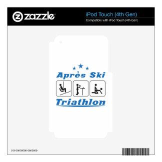 Triathlon del esquí de Apres Calcomanías Para iPod Touch 4G