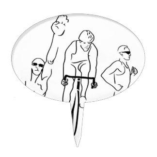 Triathlon del funcionamiento de la bici de la nada decoración de tarta