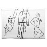 Triathlon del funcionamiento de la bici de la nada mantel individual