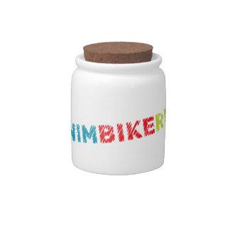 Triathlon design candy jar