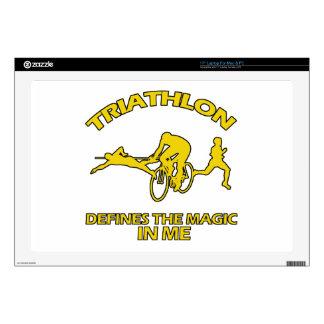 "TRIATHLON DESIGNS 17"" LAPTOP DECAL"