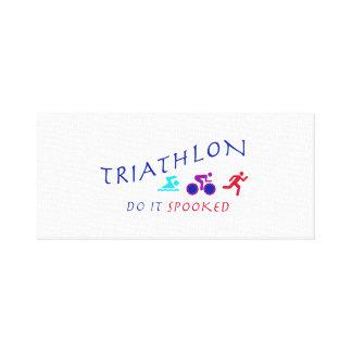 Triathlon, Do it Spooked Canvas Print