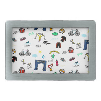 Triathlon Doodles Belt Buckle