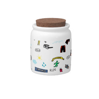 Triathlon Doodles Candy Jar