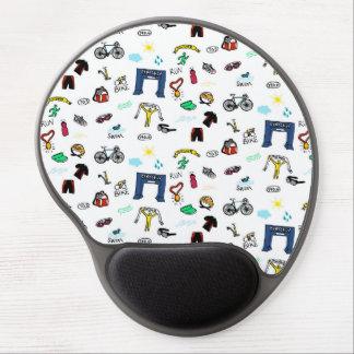 Triathlon Doodles Gel Mousepad