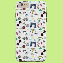 Triathlon Doodles iPhone 6 Plus Case