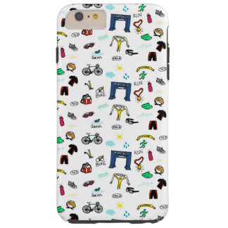Triathlon Doodles iPhone 6 Plus Case