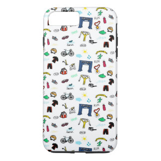 Triathlon Doodles iPhone 7 Plus Case