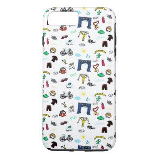 Triathlon Doodles iPhone 7 Plus Case