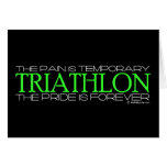 Triathlon - el orgullo es Forever Felicitación