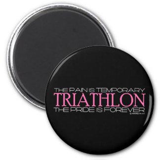 Triathlon - el orgullo es Forever Imán Redondo 5 Cm