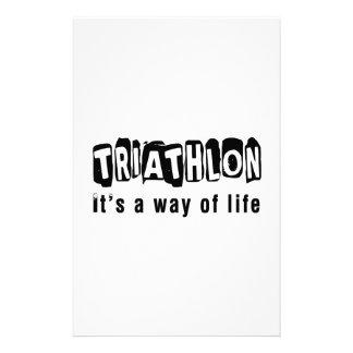 Triathlon es una manera de vida  papeleria de diseño