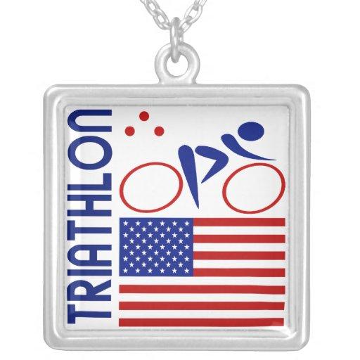 Triathlon Estados Unidos Colgante Personalizado