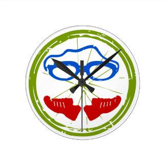 Triathlon Face Round Clock
