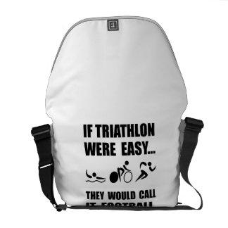Triathlon Football Messenger Bag