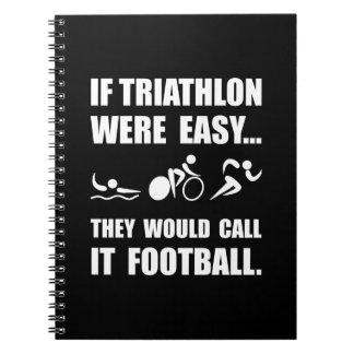 Triathlon Football Note Books