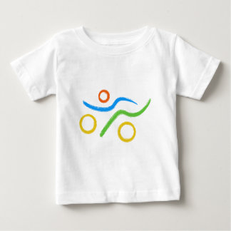 Triathlon Freak logo Baby T-Shirt