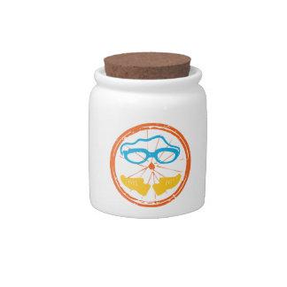 Triathlon fun design candy jar