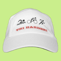 Triathlon fun quote custom text sports headsweats hat