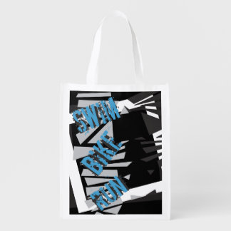 Triathlon Grocery Bag SWIM BIKE RUN Theme Reusable Grocery Bag