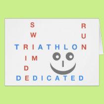 Triathlon I'm Dedicated Card