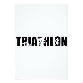 """Triathlon Invitación 3.5"""" X 5"""""""