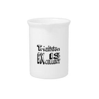 Triathlon Is Excellent Beverage Pitcher