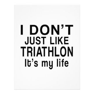TRIATHLON IS MY LIFE LETTERHEAD