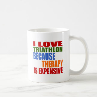 Triathlon Is My Therapy Coffee Mug