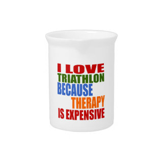 Triathlon Is My Therapy Drink Pitcher