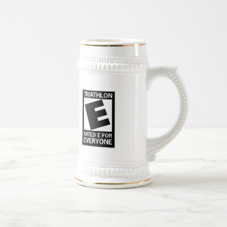 Triathlon is Rated E for Everyone 18 Oz Beer Stein