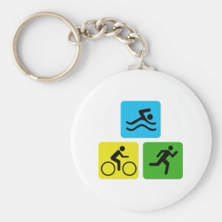 Triathlon Keychain