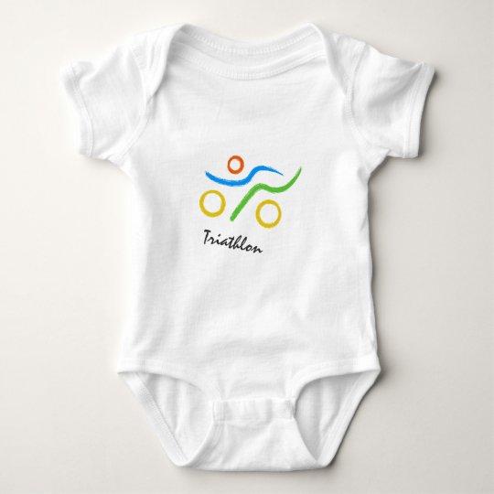 Triathlon logo baby bodysuit