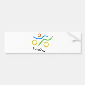 Triathlon logo bumper sticker