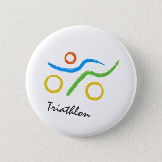 Triathlon logo button