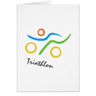 Triathlon logo card