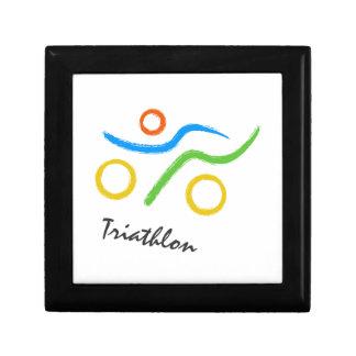 Triathlon logo gift box