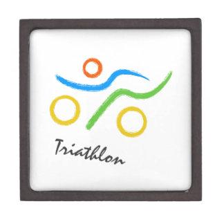 Triathlon logo keepsake box
