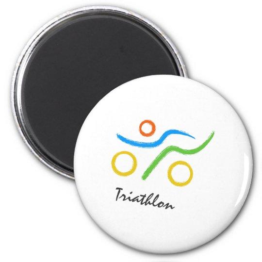 Triathlon logo magnet