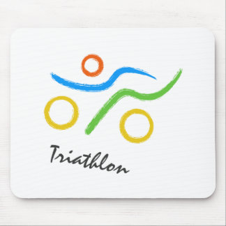 Triathlon logo mouse pad