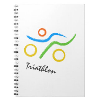 Triathlon logo notebook