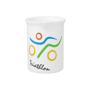 Triathlon logo pitcher