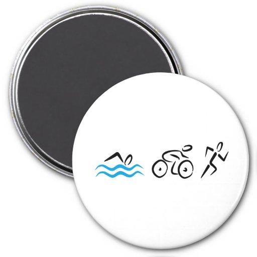 Triathlon Refrigerator Magnet