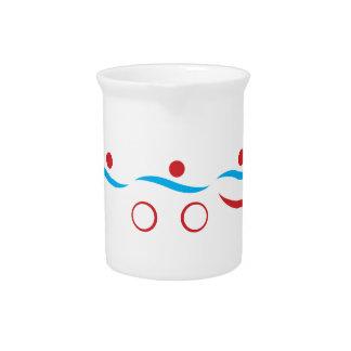 Triathlon modern cool logo drink pitcher