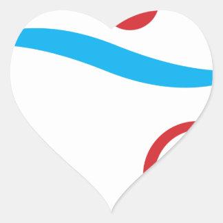 Triathlon modern cool logo heart sticker